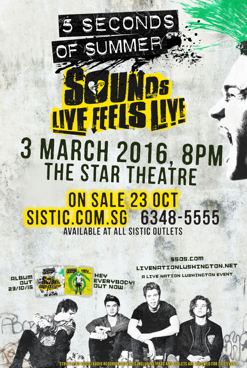 5sos rocks out at the star performing arts centre book now m4hsunfo