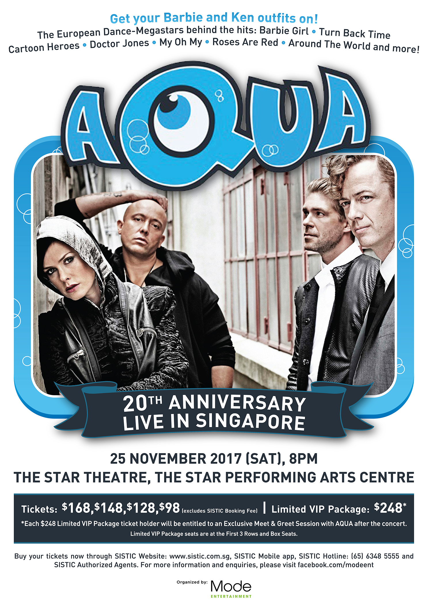 Aqua 20th Anniversary Live In Singapore The Star Pac
