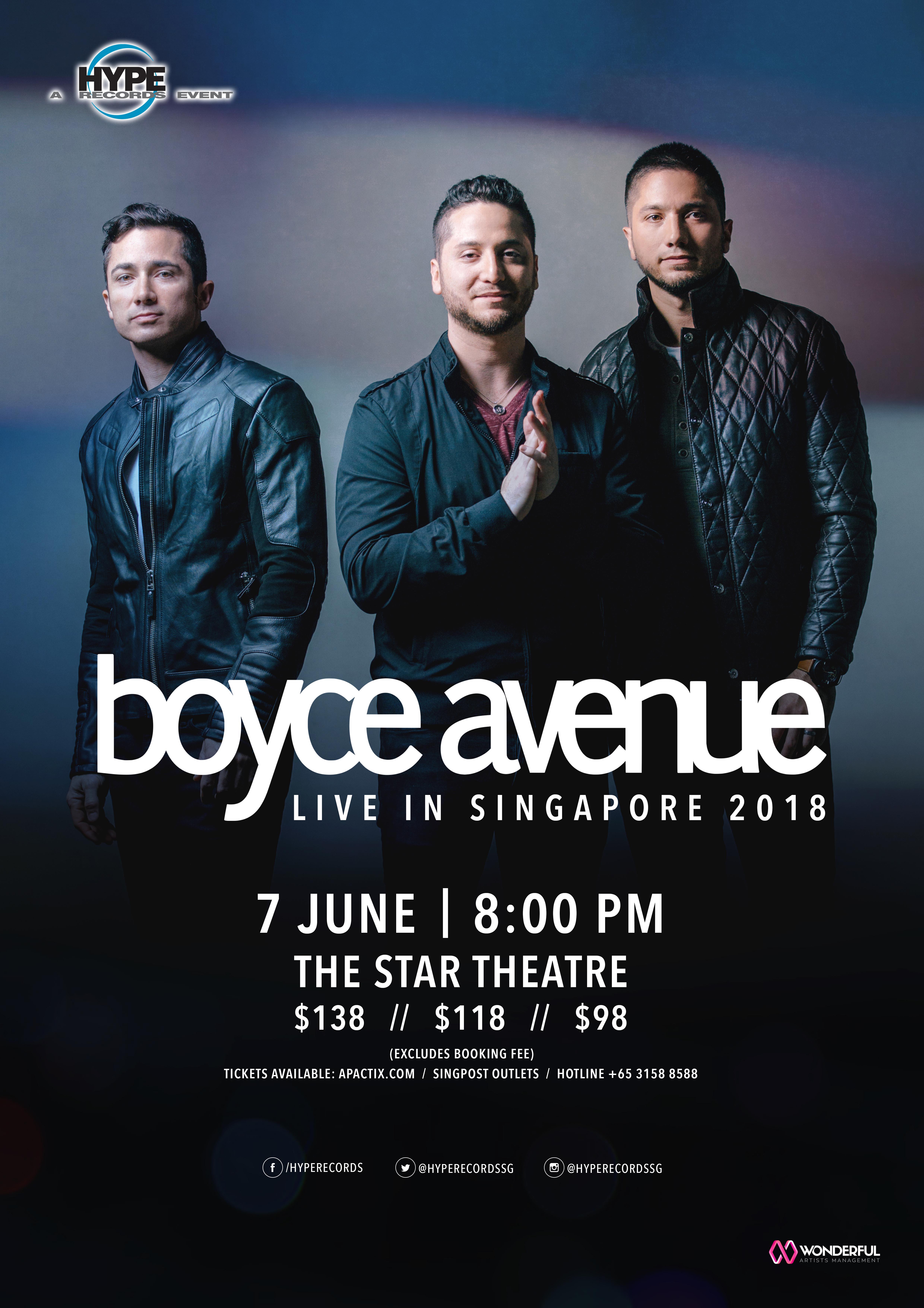 Boyce Avenue Live in Singapore 2018