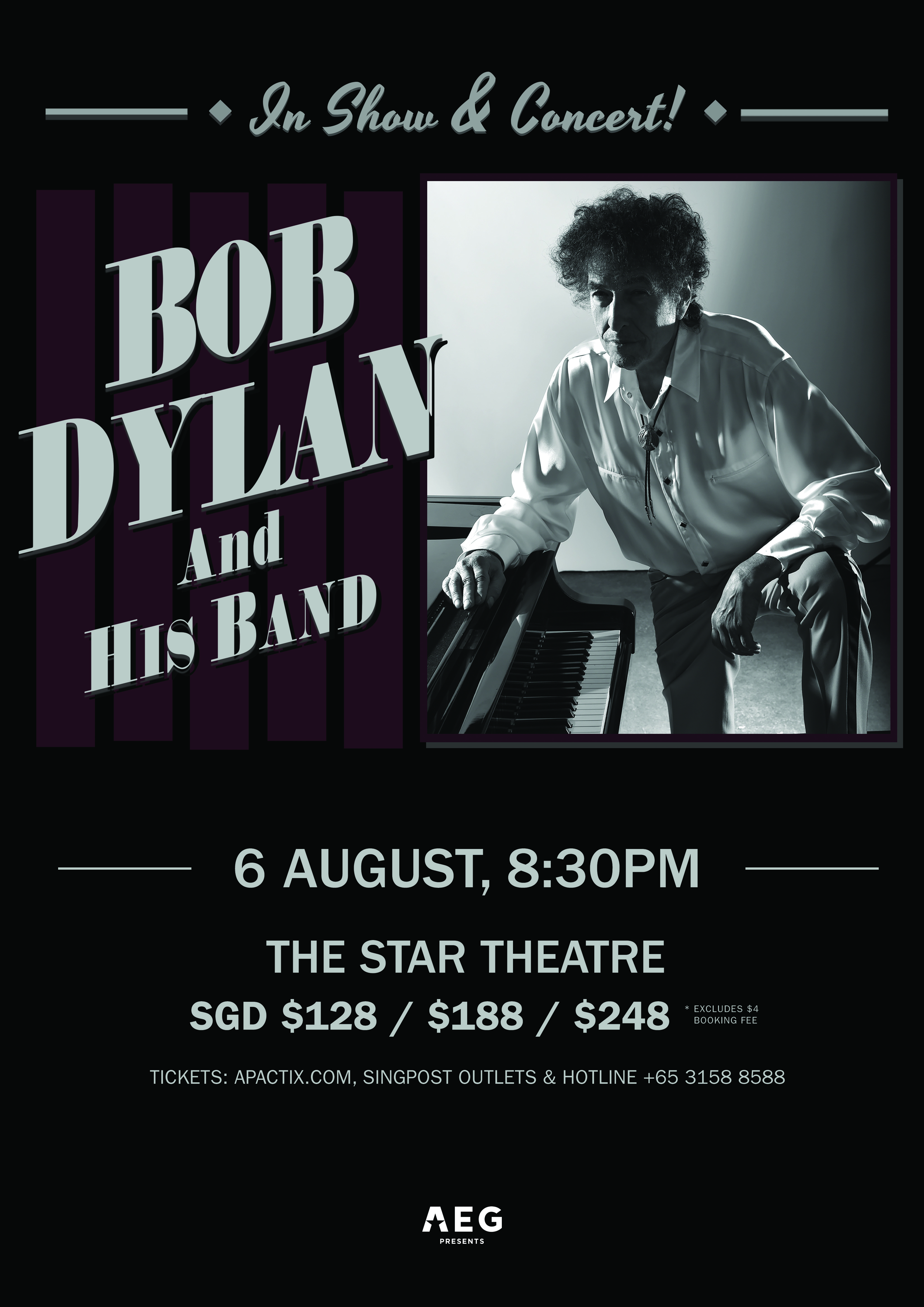 Bob Dylan and His Band Live in Singapore 2018