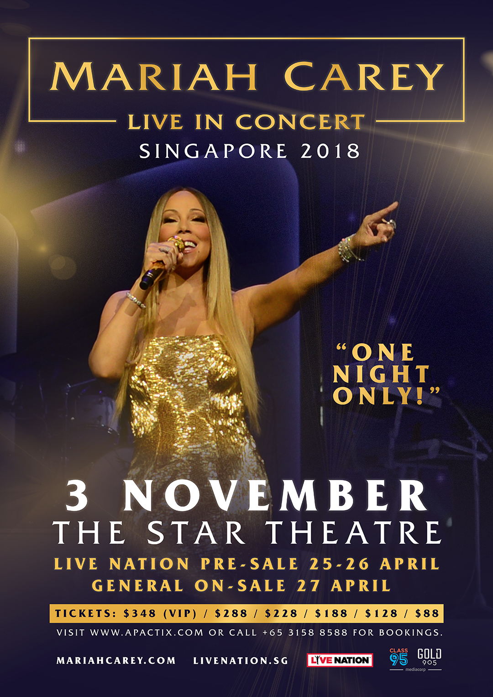 Mariah Carey Live in Concert Singapore 2018